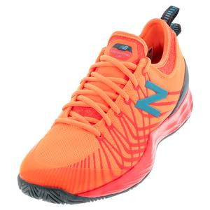 Men`s Fresh Foam LAV D Width Tennis Shoes Citrus Punch and Vivid Coral