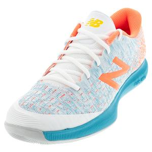 Women`s FuelCell 996v4 D Width Tennis Shoes White and Citrus Punch