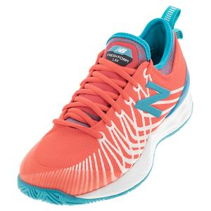 Women`s Fresh Foam LAV D Width Tennis Shoes Vivid Coral and Virtual Sky