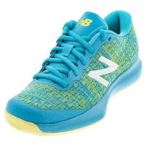 Juniors` 996v4 Tennis Shoes Virtual Sky and Citra Yellow