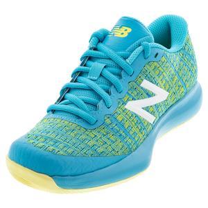 Juniors` 996v4 Tennis Shoes Virtual Sky and Citra Yellow