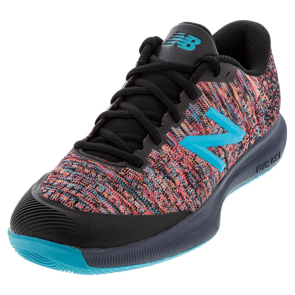 Men's Fuelcell 996v4 D Width Tennis Shoes Black And Virtual Sky