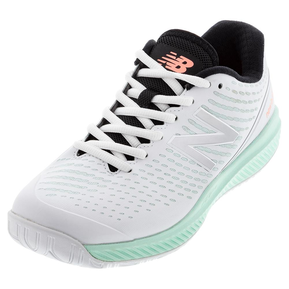 Women's 796v2 B Width Tennis Shoes White And Mint