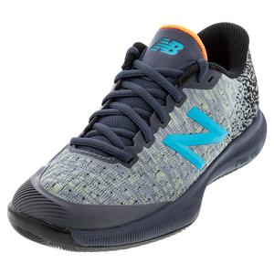 Women`s FuelCell 996v4 B Width Tennis Shoes Ocean Grey and Citrus Punch