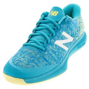Women`s FuelCell 996v4 B Width Tennis Shoes Virtual Sky and Lemon Haze