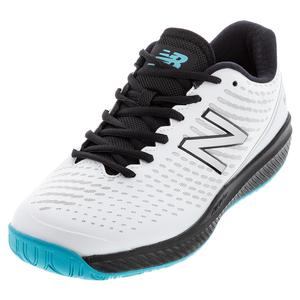Men`s 796v2 D Width Tennis Shoes White and Black