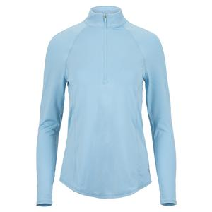 Women`s Momentum Mock Tennis Top Dusty Blue