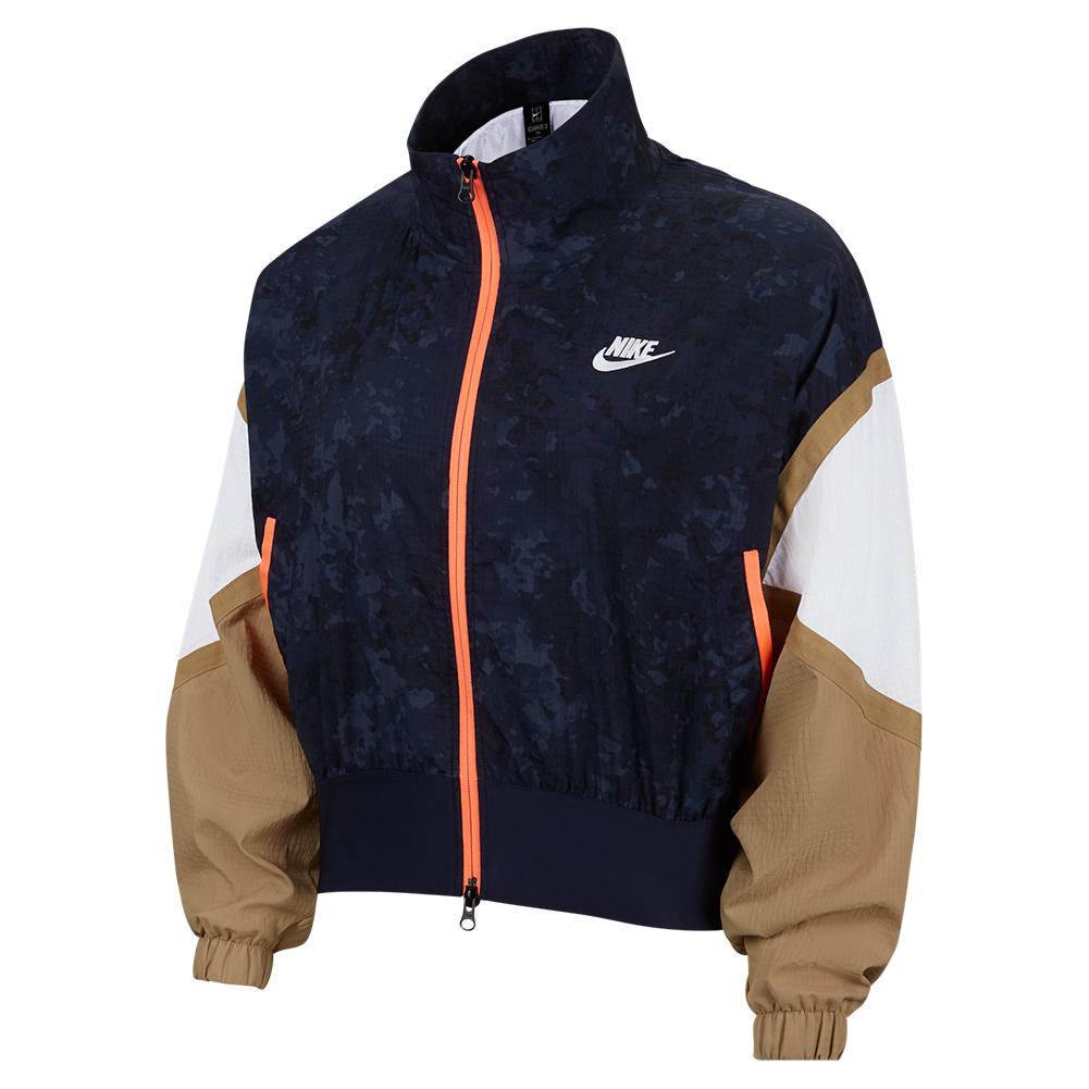 Women's Melbourne Team Court Slam Tennis Jacket Obsidian And White