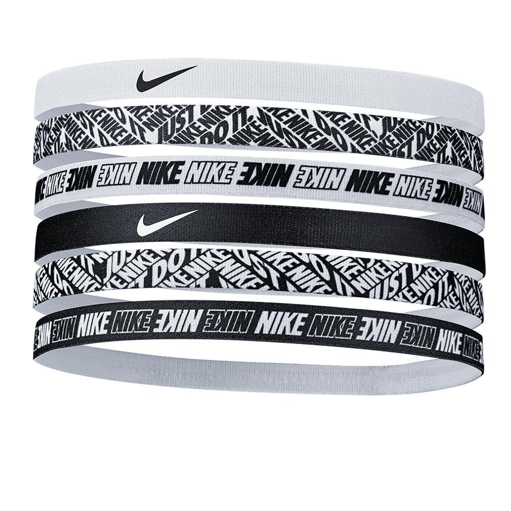 Women's Printed Tennis Headbands 6 Pack White