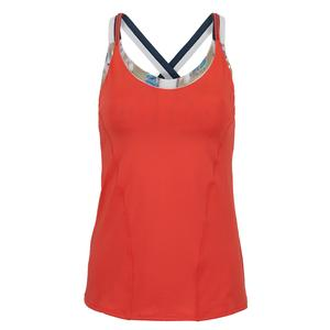 Women`s A Stitch in Time Bralette Tennis Cami Flame