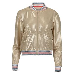 Women`s Metallic Tennis Bomber Jacket Champagne