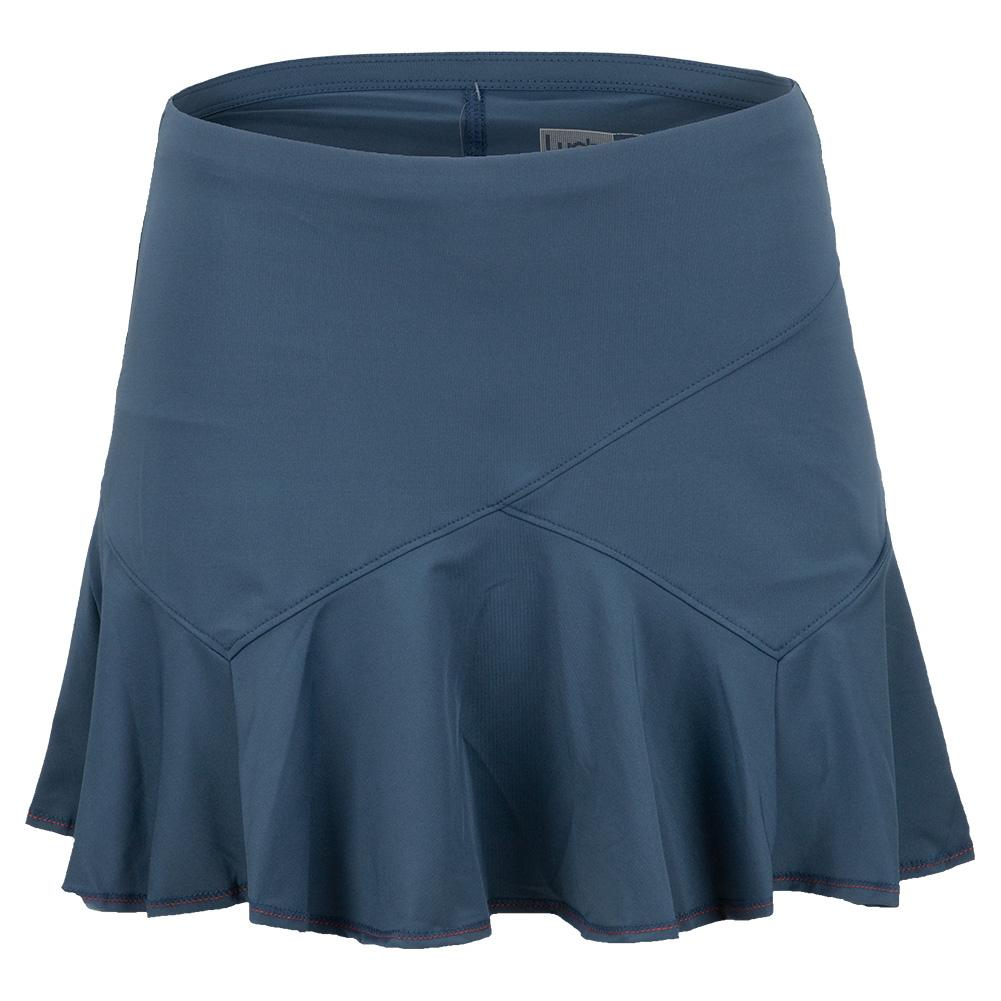 Women's Long Flounce Tennis Skort Slate