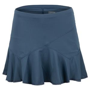 Women`s Long Flounce Tennis Skort Slate