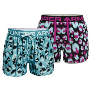 Girls` UA Play Up Printed Shorts