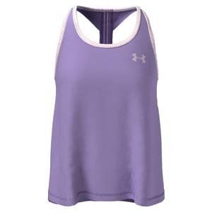 Girls` UA Knockout Tank Planet Purple and Beta Tint