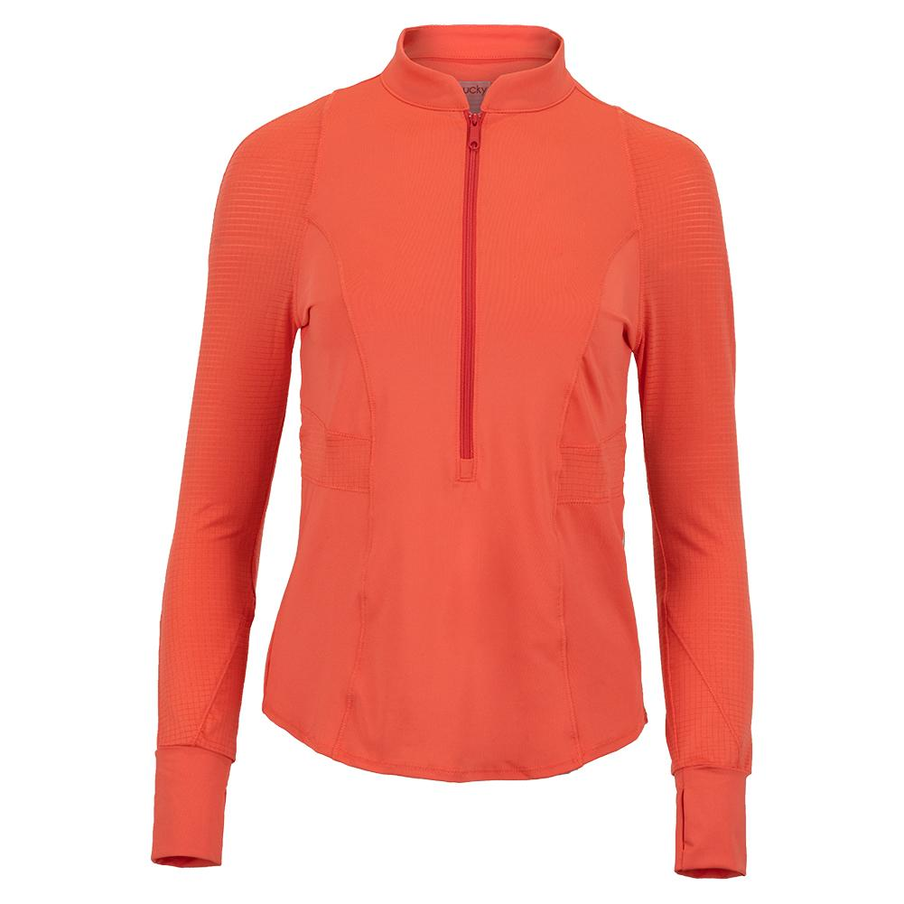 Women's Upbeat 1/4 Zip Long Sleeve Tennis Top Flame