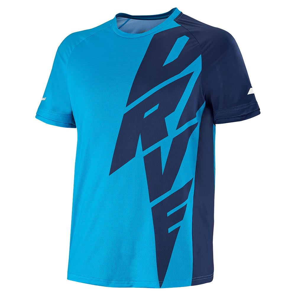 Tennisexpress Men`s Drive Crew Neck Tennis Top Drive Blue