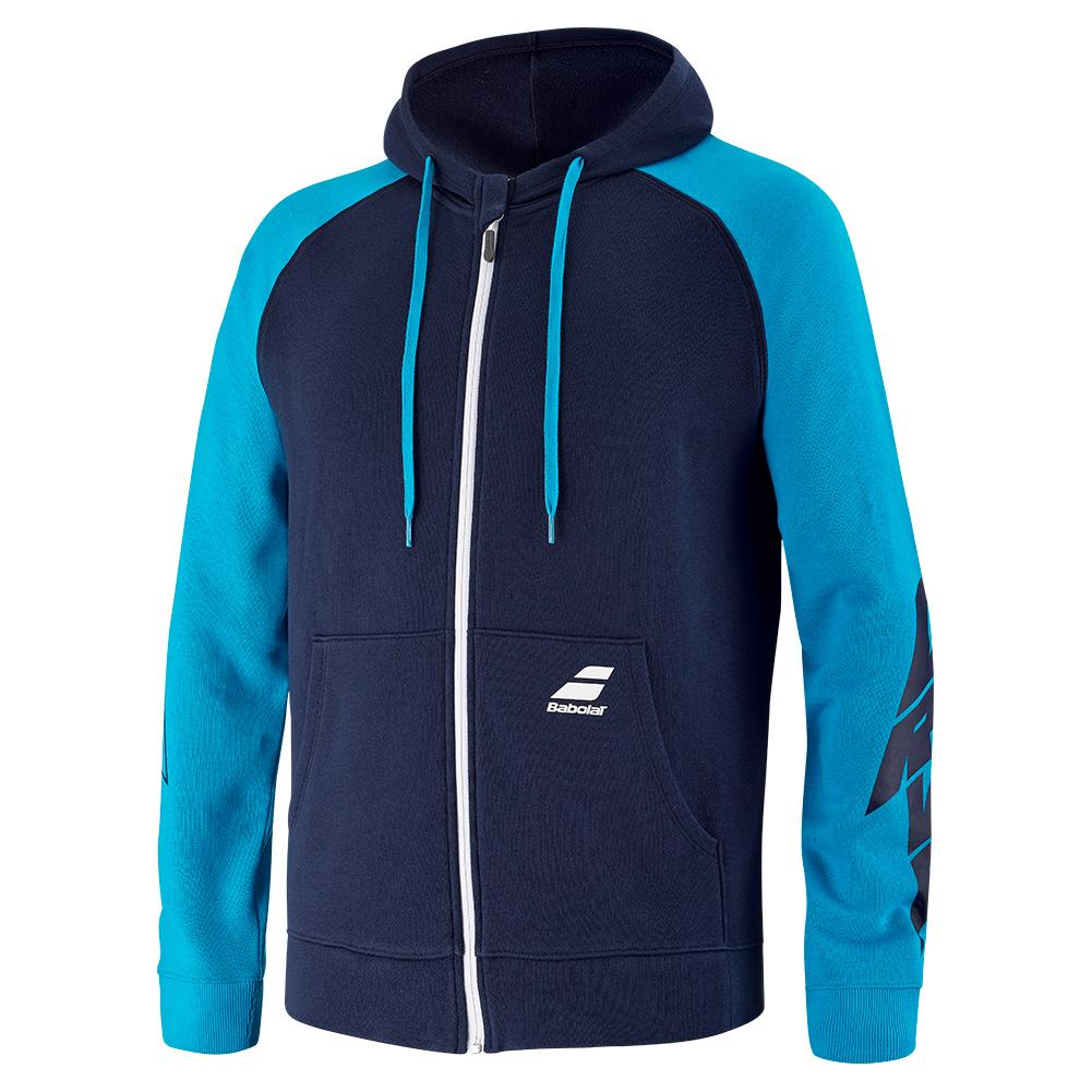 Tennisexpress Men`s Drive Hood Tennis Jacket Drive Blue