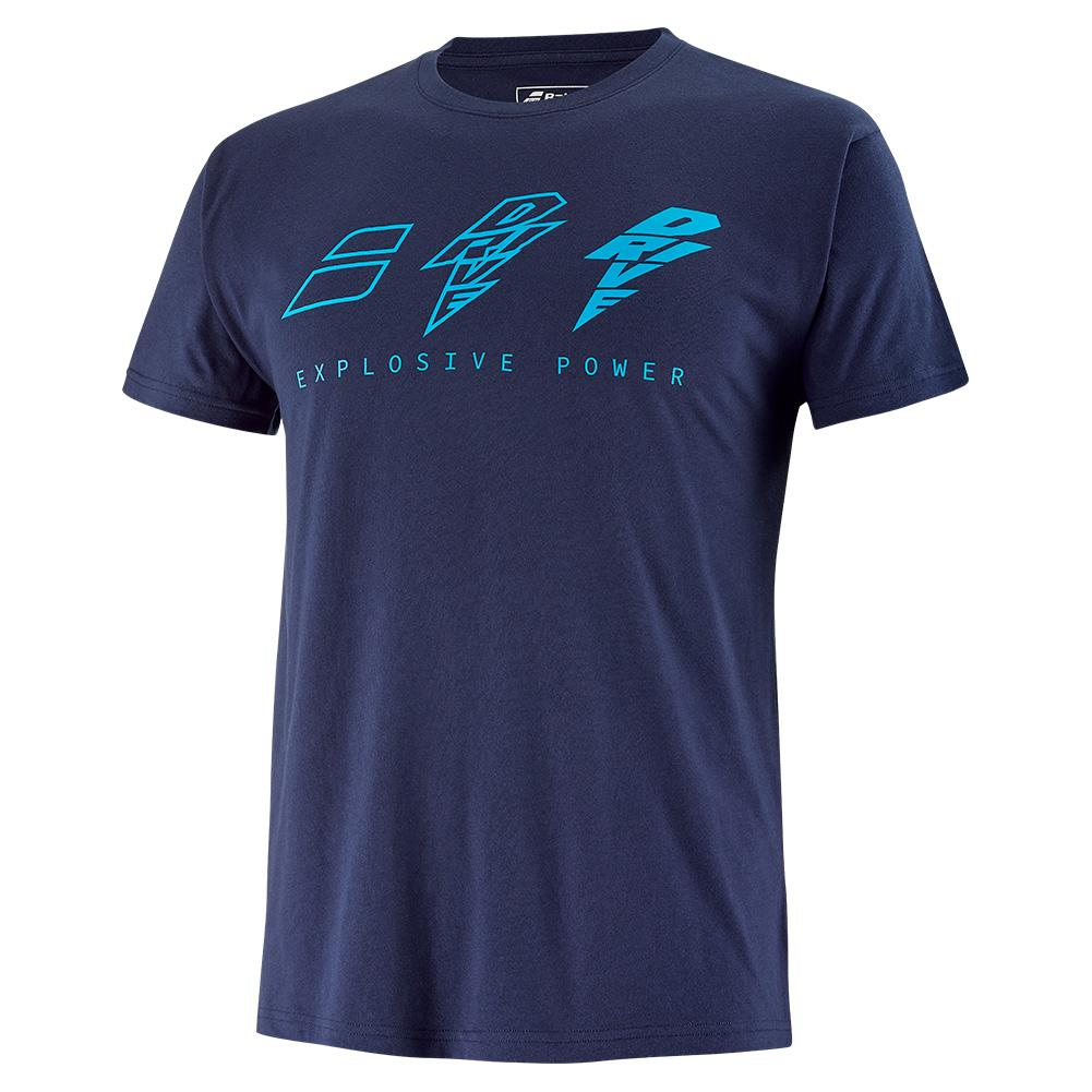 Tennisexpress Men`s Drive Cotton Tennis Tee Drive Blue