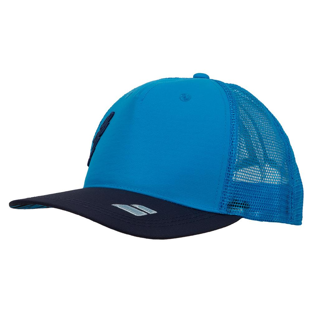 Tennis Trucker Hat Drive Blue