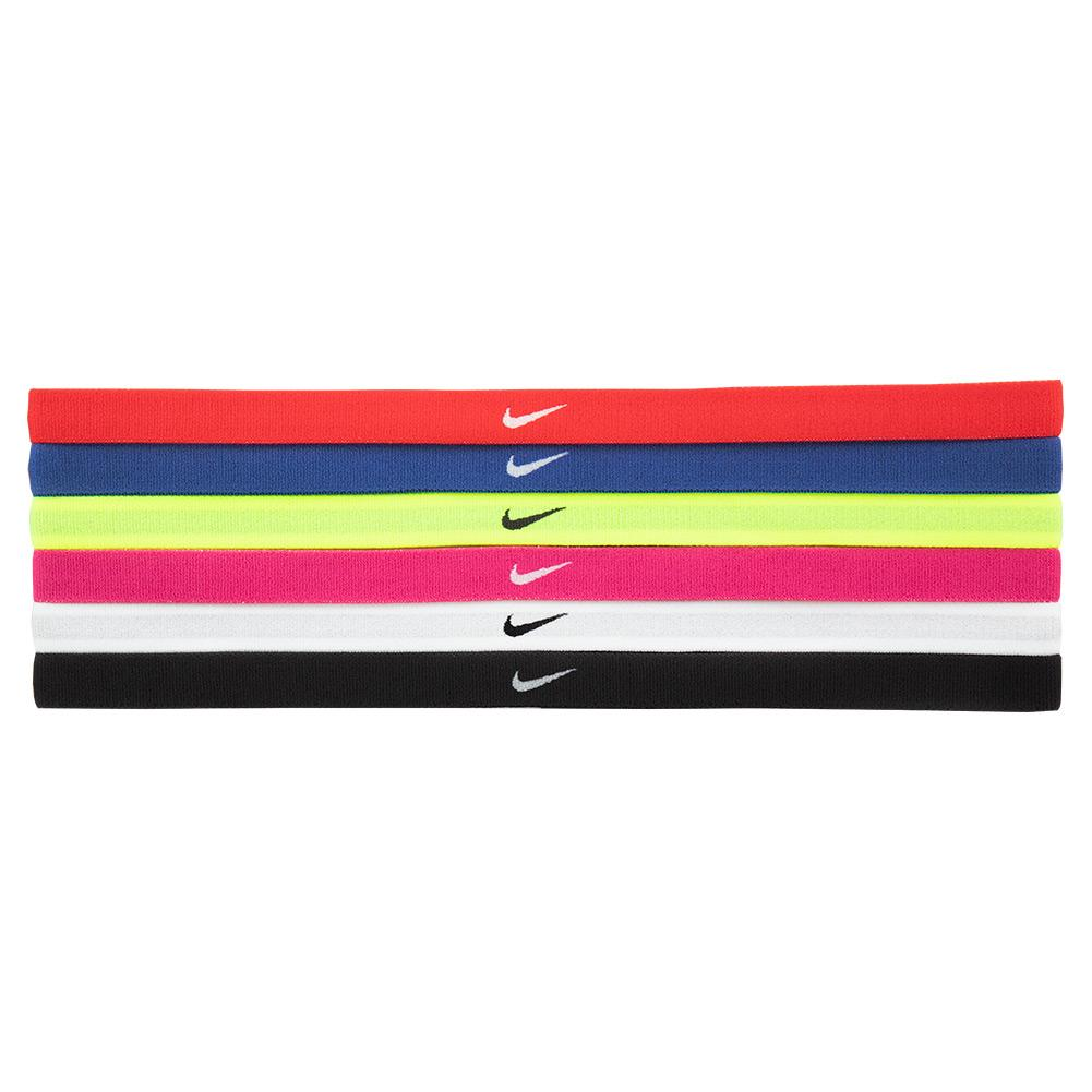 Girls'swoosh Sport Headbands 6 Pack University Red And Game Royal