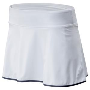 Women`s Rally 13 Inch Tennis Skort White