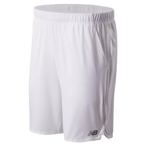 Men`s Rally 9 Inch Tennis Short White