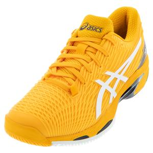 Men`s Solution Speed FF 2 Tennis Shoes Amber and White