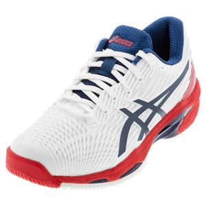 Men`s Solution Speed FF 2 Tennis Shoes White and Mako Blue