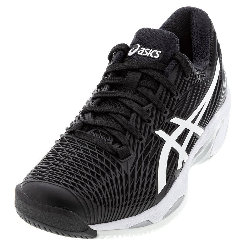 ASICS Men`s Tennis Shoes | Solution Speed FF 2 in Black & White ...