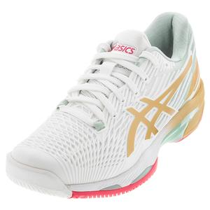 Women`s Solution Speed FF 2 LE Tennis Shoes White and Champagne