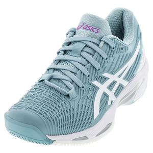 Women`s Solution Speed FF 2 Tennis Shoes Smoke Blue and White