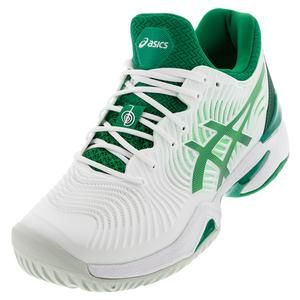 Men`s Court FF Novak Tennis Shoes White and Kale