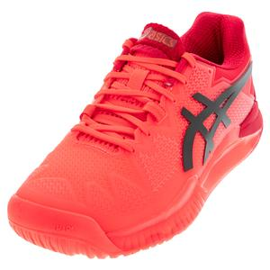 Men`s GEL-Resolution 8 Tokyo Tennis Shoes Sunrise Red and Black