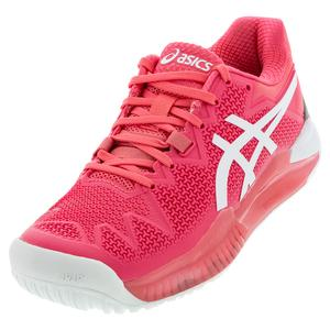 Women`s GEL-Resolution 8 Tennis Shoes Pink Cameo and White