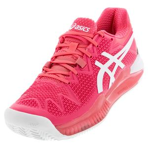 Women`s GEL-Resolution 8 Clay Tennis Shoes Pink Cameo and White