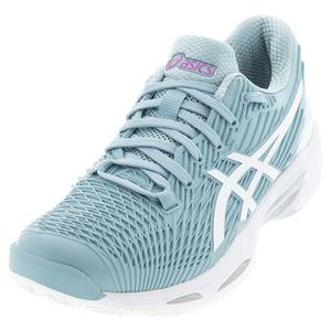 Women`s Solution Speed FF 2 Clay Tennis Shoes Smoke Blue and White