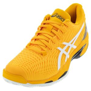Men`s Solution Speed FF 2 Clay Tennis Shoes Amber and White