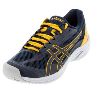 Men`s Court Speed FF Tennis Shoes French Blue and Amber