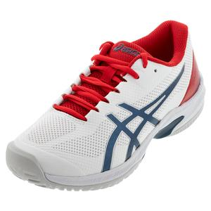 Men`s Court Speed FF Tennis Shoes White and Mako Blue