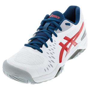 Men`s GEL-Challenger 12 Tennis Shoes White and Classic Red