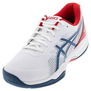 Men`s GEL-Game 8 Tennis Shoes White and Mako Blue
