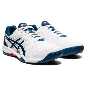 Men`s GEL-Dedicate 6 Tennis Shoes White and Mako Blue