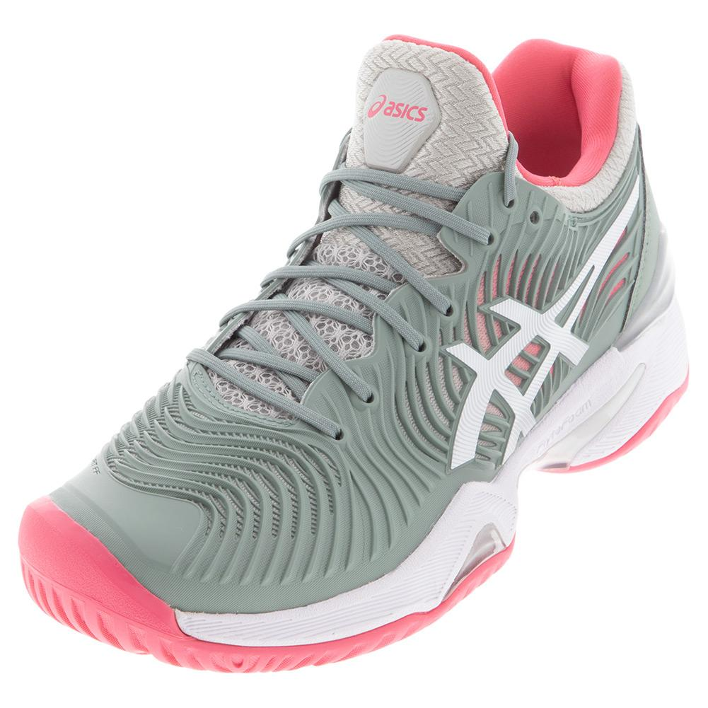 ASICS Women`s Tennis Shoes   Court FF 2 in Slate Grey & White ...