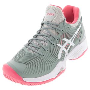 Women`s Court FF 2 Tennis Shoes Slate Grey and White