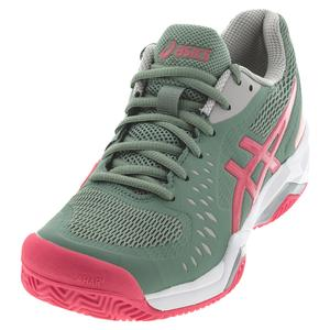 Women`s GEL-Challenger 12 Clay Tennis Shoes Slate Grey and Pink Cameo