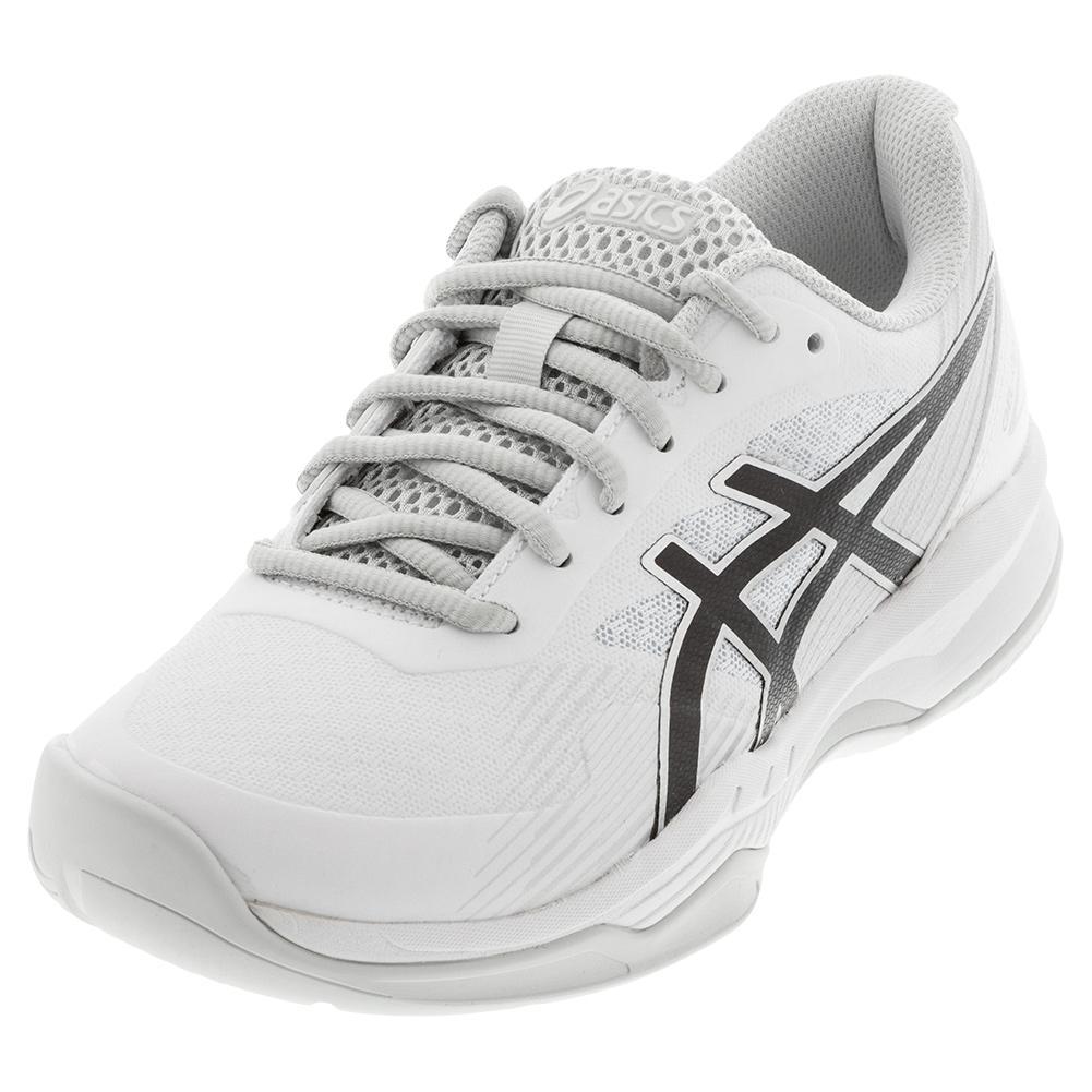 ASICS Women`s Tennis Shoes | GEL-Game 8 White & Black ...