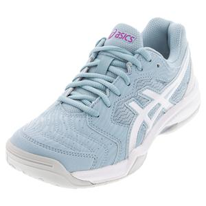 Women`s GEL-Dedicate 6 Tennis Shoes Smoke Blue and White