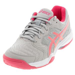 Women`s GEL-Dedicate 6 Tennis Shoes Oyster Grey and Pink Cameo