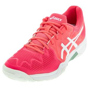 Juniors` GEL-Resolution 8 GS Tennis Shoes Pink Cameo and White